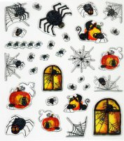 Design-Sticker - Halloween-Spinnen