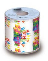 Designer-Toilettenpapier - Happy Birthday - Geschenke