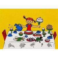 Einladungskarten   Pippi Langstrumpf   12 Stück
