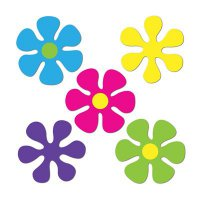 Flower-Power - Deko - 10teilig