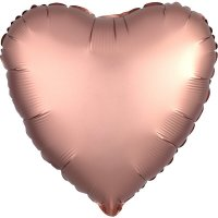 Folienballon HERZ Satin-Luxus - ROSE-GOLD...