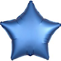 Folienballon STERN Satin-Luxus - BLAU -...