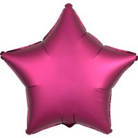 Folienballon STERN Satin-Luxus - MAGENTA...