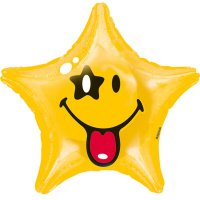 Folienballon - Smiley Stern - 48 cm - Smiley World