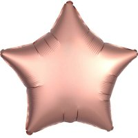 Folienballon STERN Satin-Luxus - ROSE-GOLD...