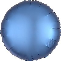 Folienballon rund Satin-Luxus - BLAU...
