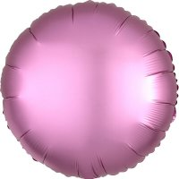 Folienballon rund Satin-Luxus - Flamingo-ROSA...