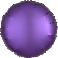 Folienballon rund Satin-Luxus - LILA...
