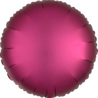 Folienballon rund Satin-Luxus - MAGENTA...