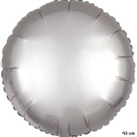 Folienballon rund Satin-Luxus Platin -...