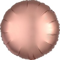 Folienballon rund Satin-Luxus - ROSE-GOLD...