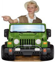 Foto-Shooting-Szene - Safari-Jeep