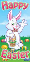 Happy Easter - Osterhase - T�r- / Wand-Deko