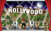 Hollywood - Fensterblick-Deko