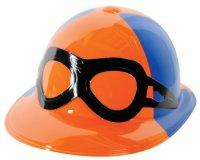 Jockey-Helm - orange-blau