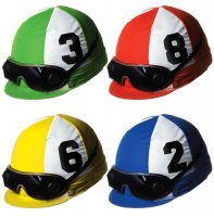 Jockey-Helme - Deko-Set