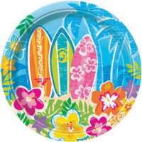 Kuchen-Teller - Hawaii-Beach-Party - Surfbretter