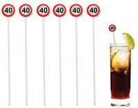 Longdrink-Sticks - Cocktail-Picks - 40. Geburtstag