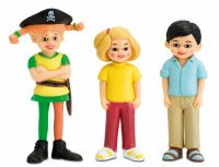MICKI - Spielpuppen-Figurenset - Piraten-Pippi, Tom und Annika