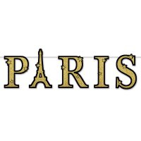Paris - Glitzer-Banner - gold
