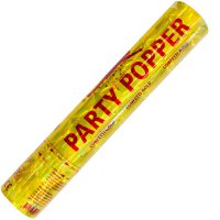 Party-Popper - Konfettikanone - gold - 28 cm