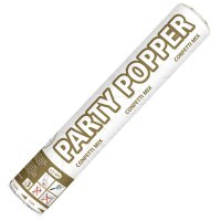 Party-Popper - Konfettikanone - gold & silber - 26 cm