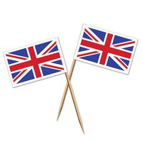 Picks - England - Union-Jack-Flagge - 50 Stück