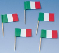 Picks - Italien-Flagge - 200 St�ck