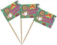 Picks - Peace & Flower Power - 50 St�ck