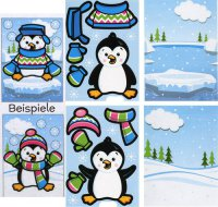 Pinguin-Sticker - Bastel-Set