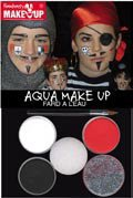 Piraten / Ritter - Aqua-Make-Up - Schminkset