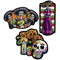 Riesen-Deko-Set - Day Of The Dead - 3teilig
