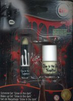 Schmink-Set - Nagellack & Lippenstift - Glow in the dark