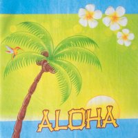 Servietten - Aloha - Strand-Party