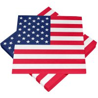 Servietten - Amerika - USA-Flagge - Stars & Stripes