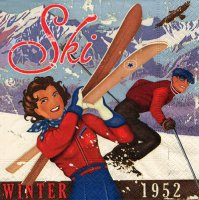 Servietten - Apres-Ski Vintage - Winter 1952