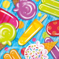 Servietten Eis-Party