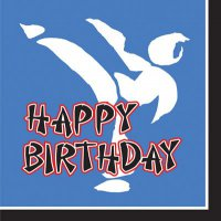 Servietten - Kampfsport - Happy Birthday