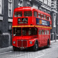 Servietten - London - roter Bus