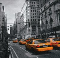 Servietten - New York Taxi - Avenue-Scene