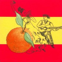 Servietten - Spanien - Flamenco & Orange