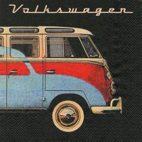 Servietten - VW T1 - Samba-Bus