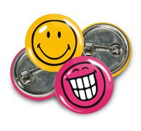 Smiley-World - Button - 2 Stück