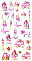 Soft-Sticker - Prinzessin