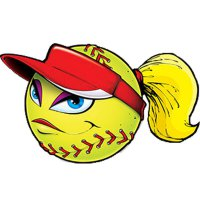Softball - witziger Sticker