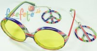 Spaßbrille zur Hippie-Party
