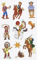 Sticker - Indianer & Cowboy