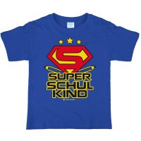 Super-Schulkind - T-Shirt - royalblau - Gr. 122/128