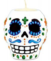Teelichthalter - Day of the dead - Totenkopf Mann