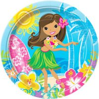 Teller - Hawaii-Beach-Party - Hula-Girl